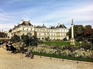 The Senate offices in the Jardin du Luxembourg, on a sunny day in October