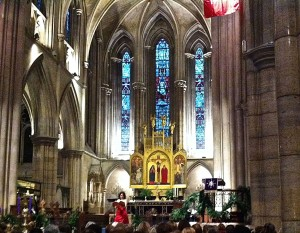Interior, American Cathedral in Paris, during Messiah Sing