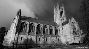 Photo of bleak church